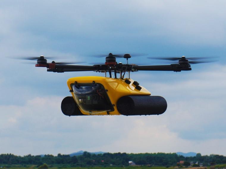 Amphibious-HexH2o-Drone